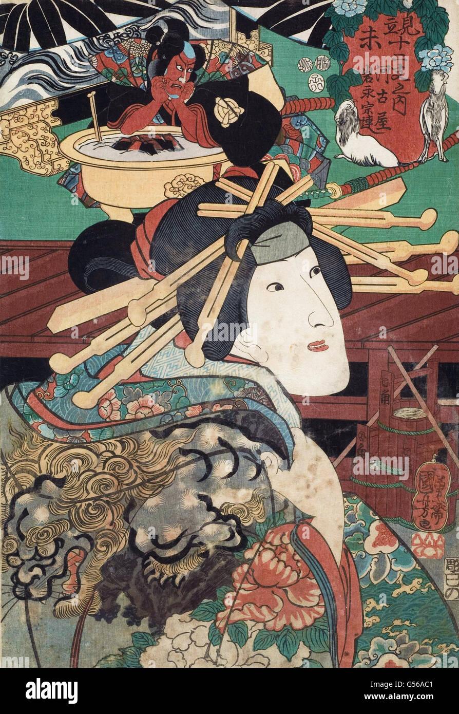 Utagawa Kuniyoshi - Woodcut (579006) - Stock Image