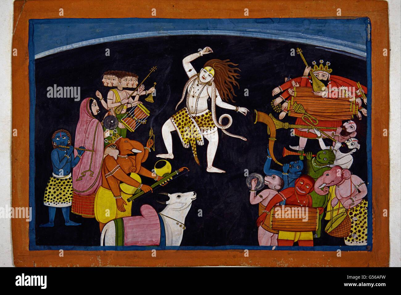 Lord Shiva dancing - Stock Image