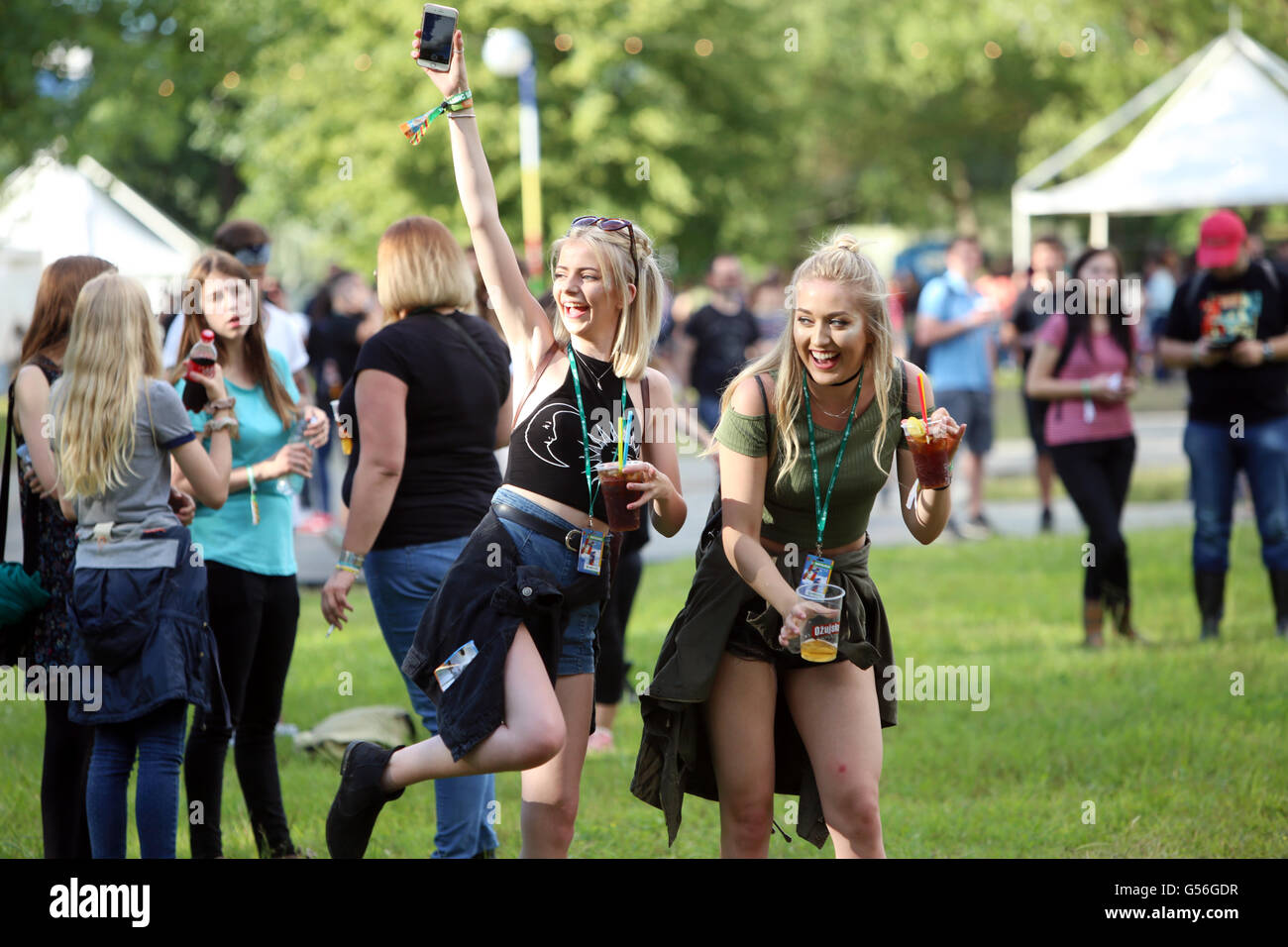 Zagreb, Croatia. 20th June, 2016. : Ambience and atmosphere on the first day of 11th INmusic festival located on Stock Photo