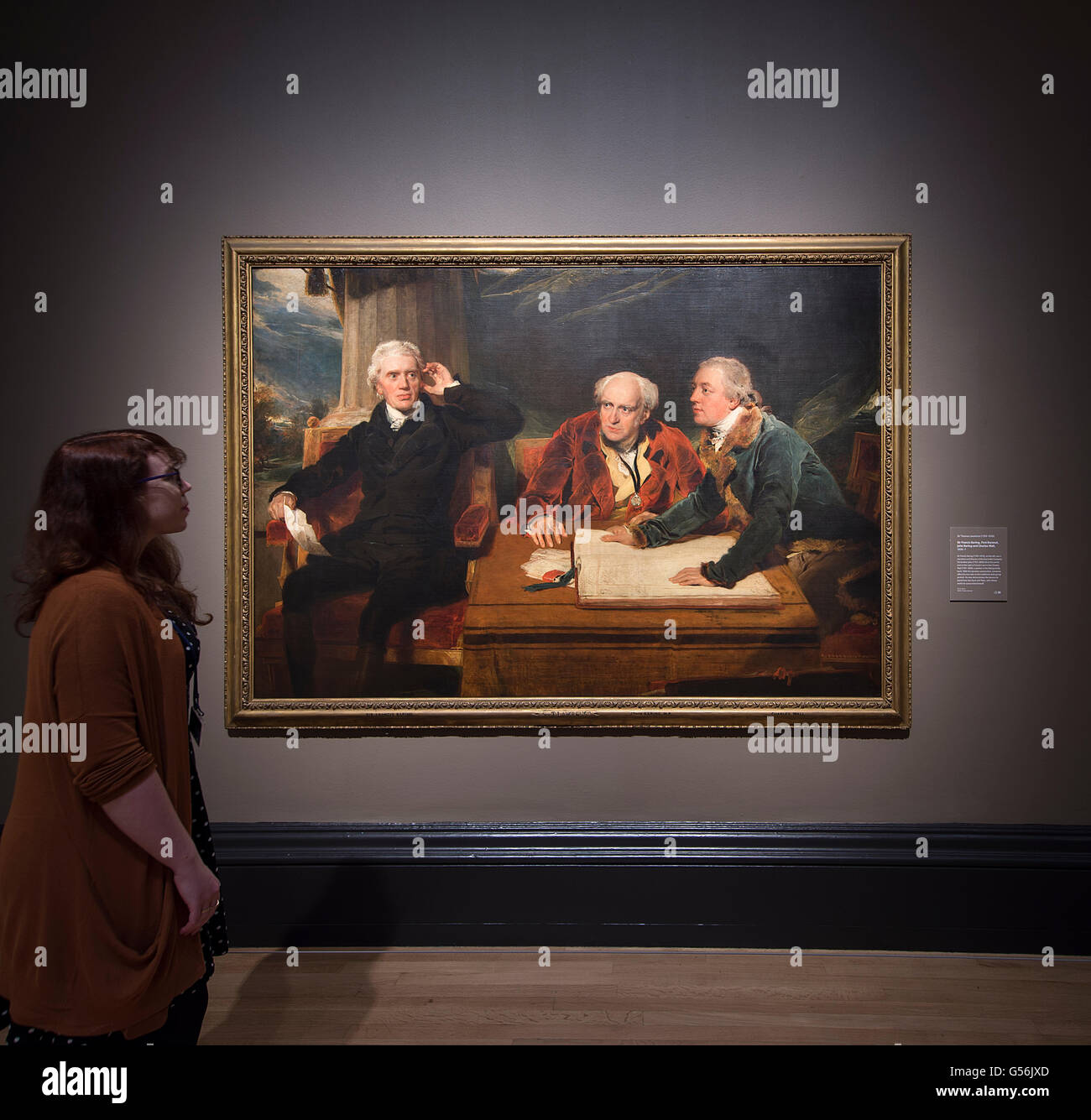The National Gallery, London UK. 21st June 2016. Press View of Painters' Paintings: From Freud to Van Dyck, an exhibition - Stock Image