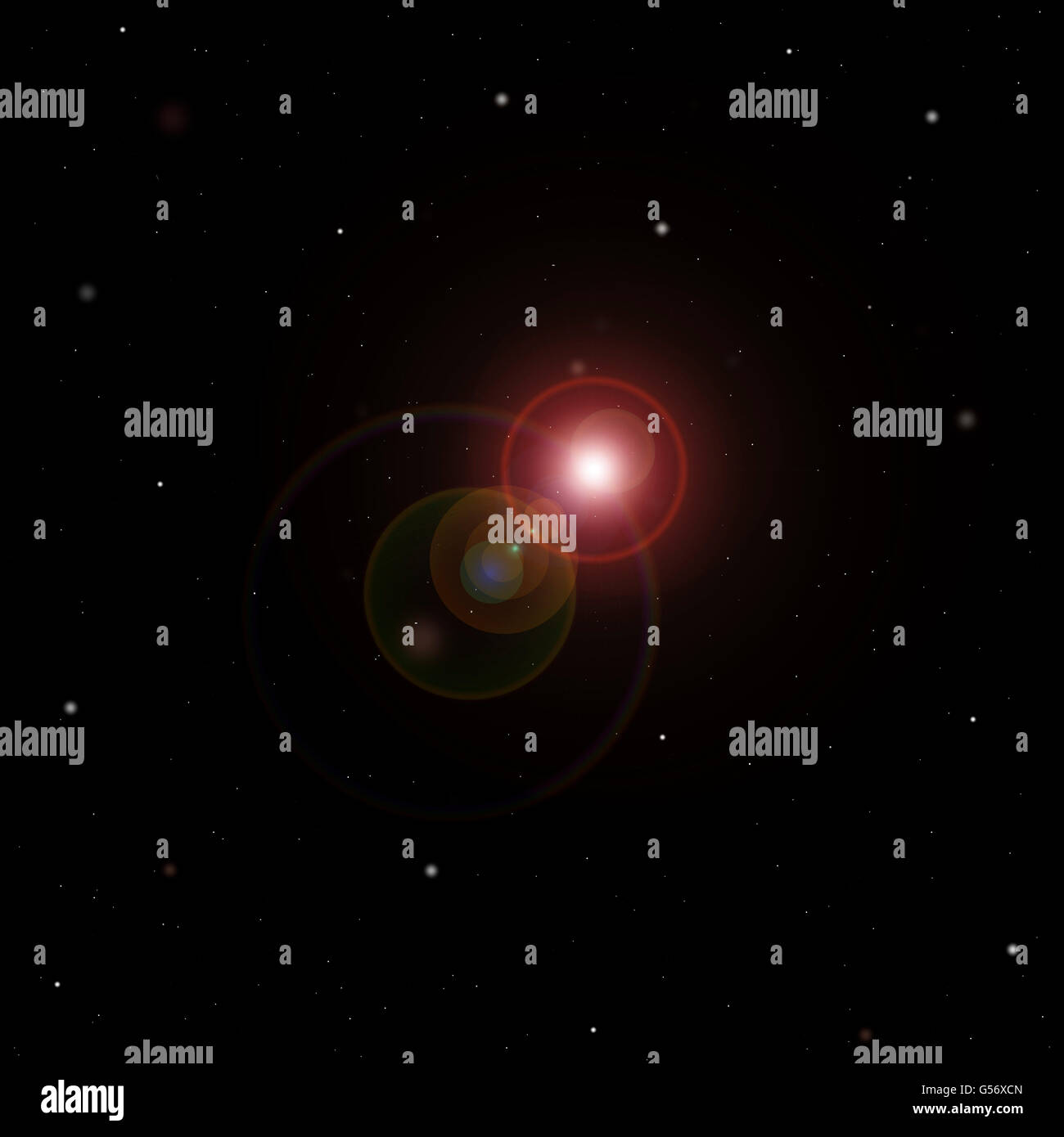 stars and stellar in the universe - Stock Image