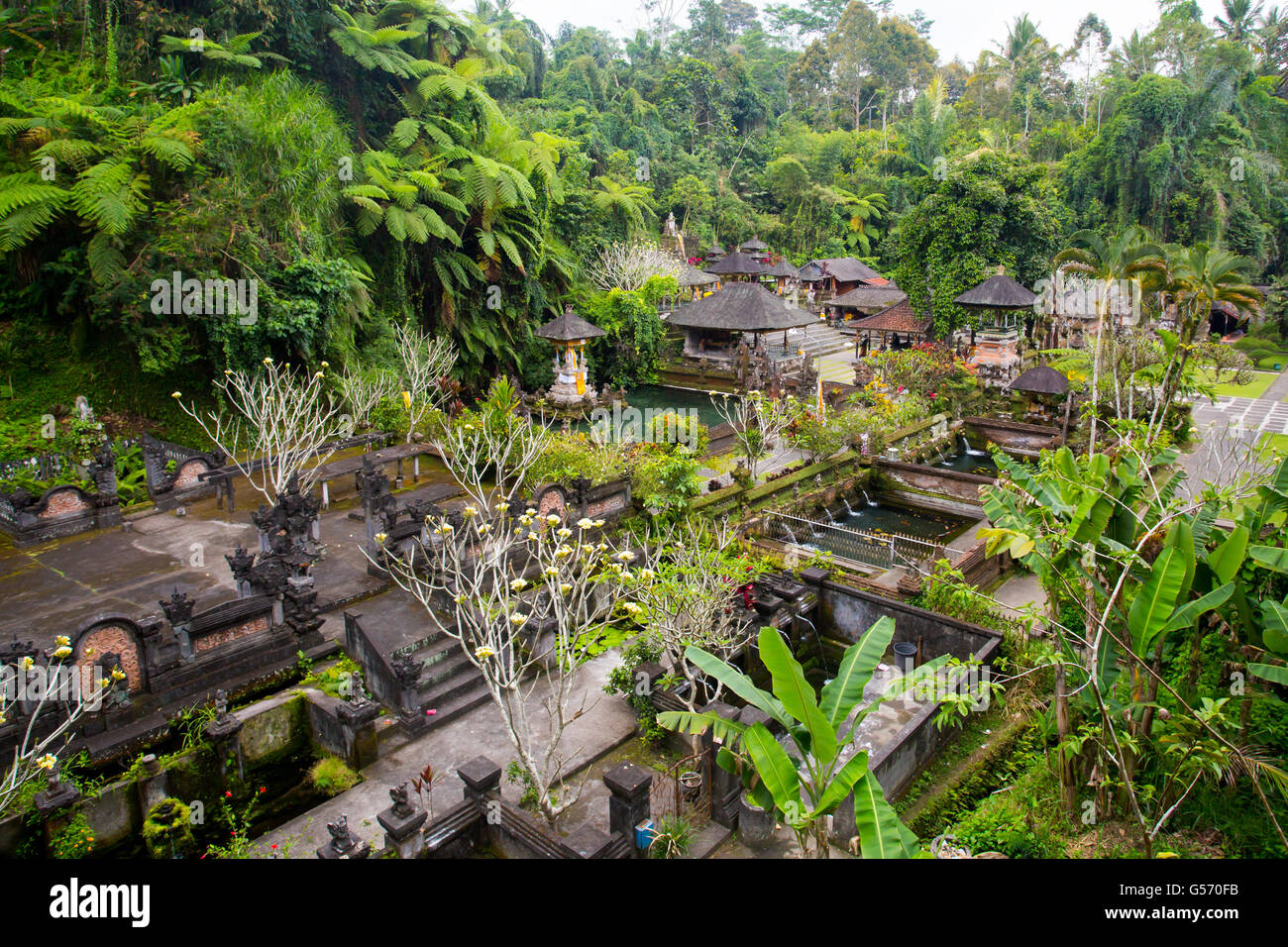 The famous Gunung Kawi Temple in Sebatu, Tegallalang, Bali, Indonesia - Stock Image
