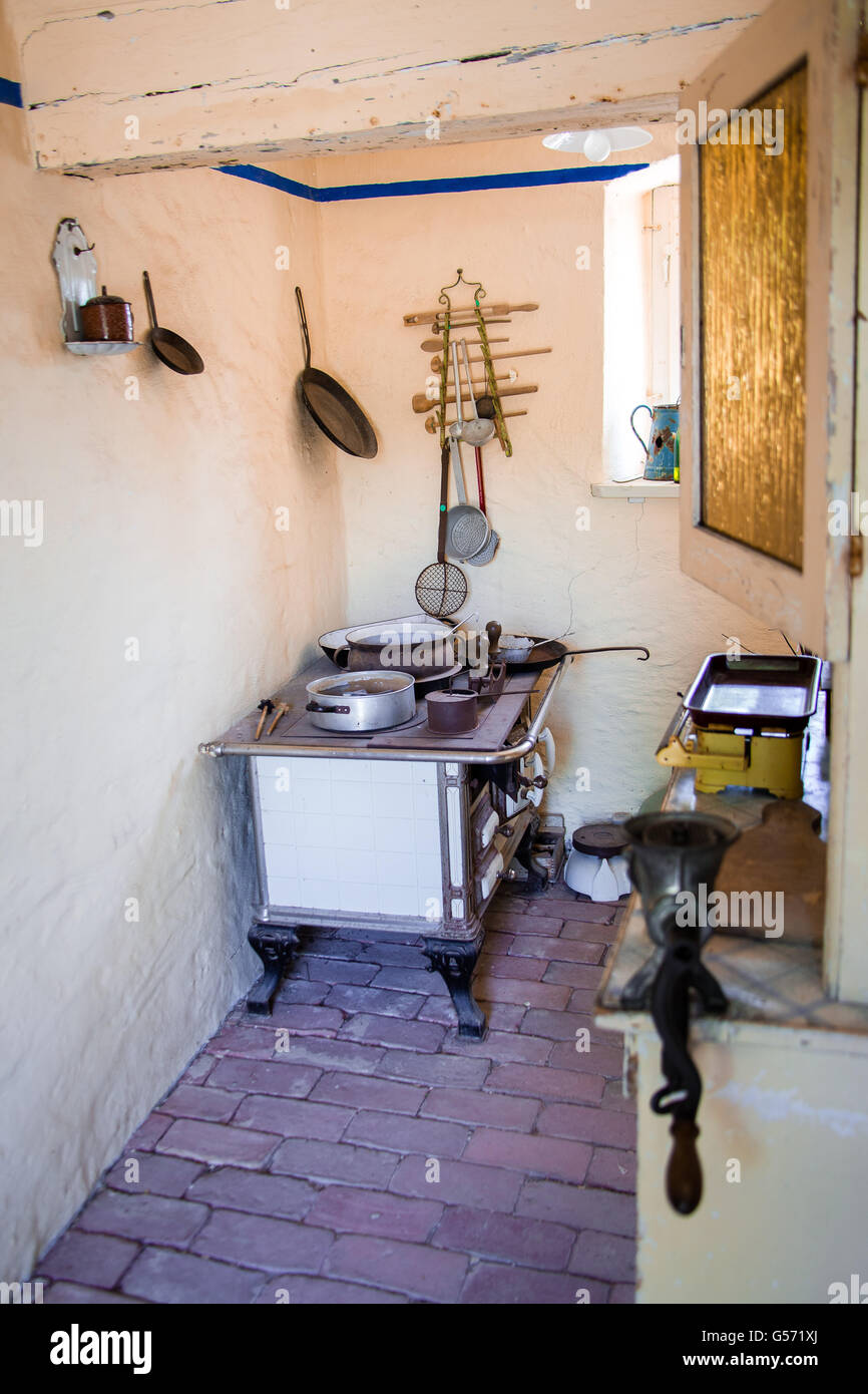 old kitchen in a village Stock Photo