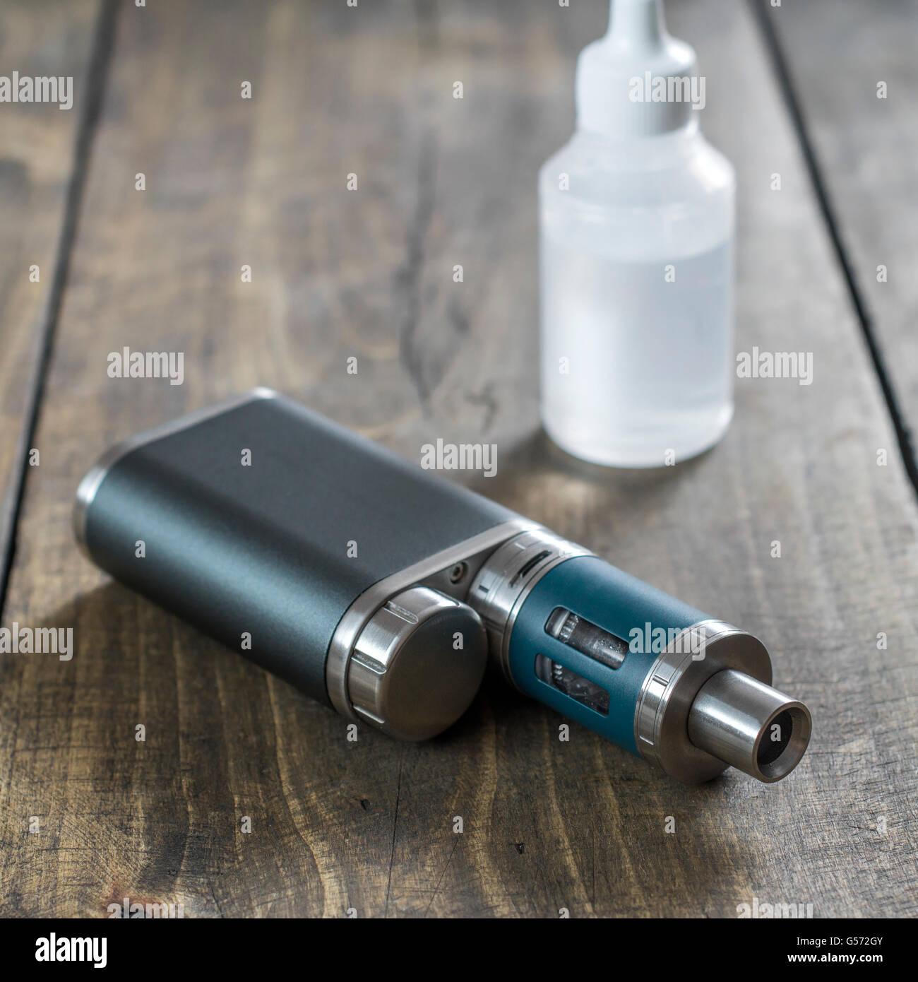 Advanced personal vaporizer or e-cigarette, close up - Stock Image