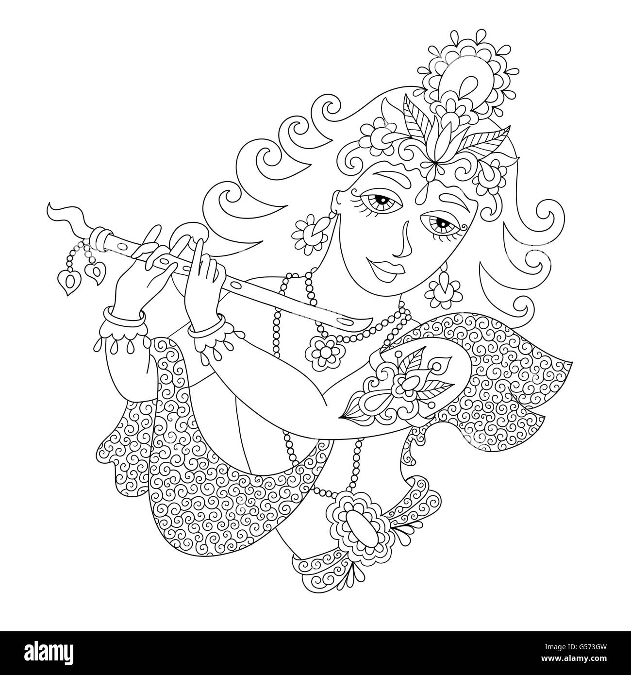 Happy janmashtami black and white stock photos images alamy