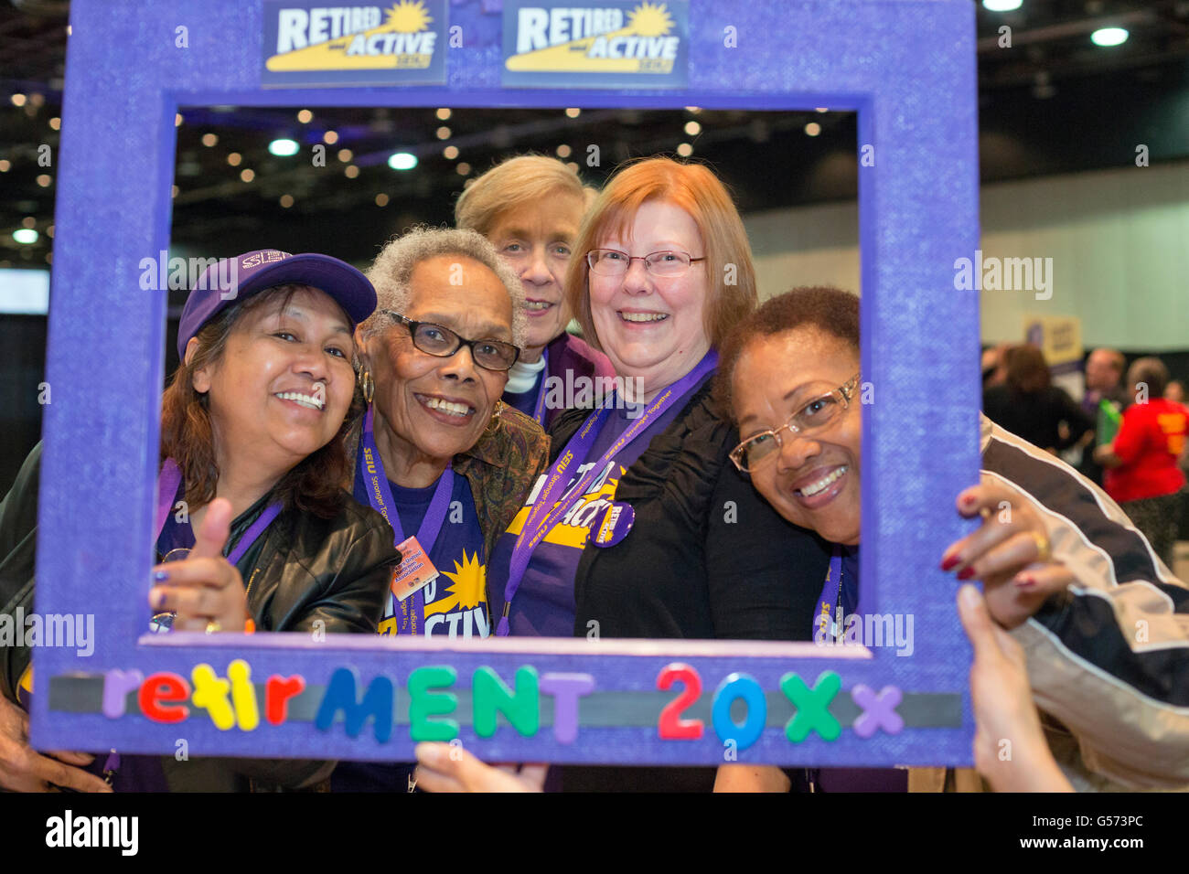 Detroit, Michigan - Retirees at the Service Employees International Union convention. - Stock Image
