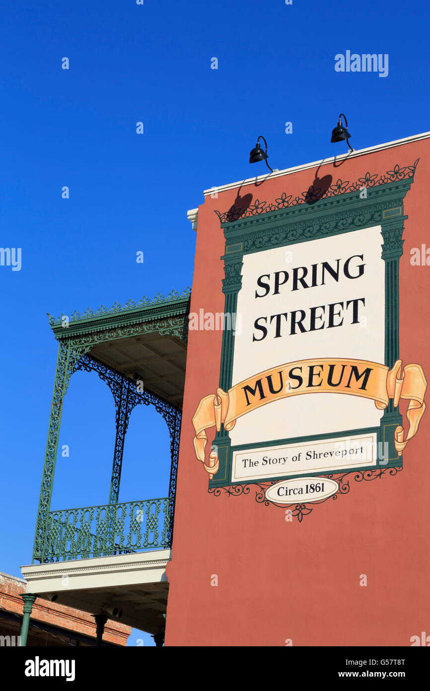Spring Street Museum, Shreveport, Louisiana, USA - Stock Image