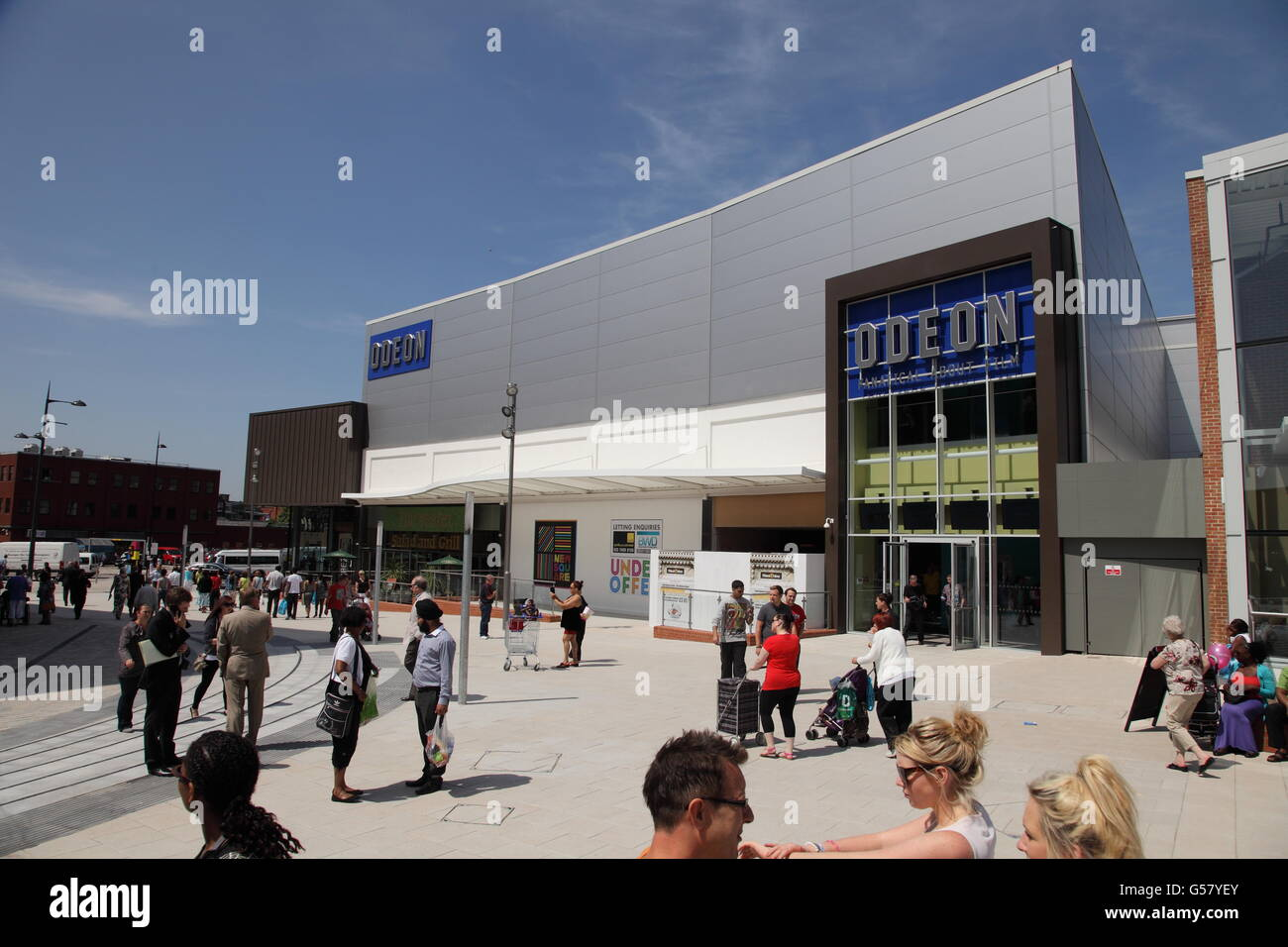 The Odeon Cinema in New Square shopping centre, West Bromwich, - Stock Image