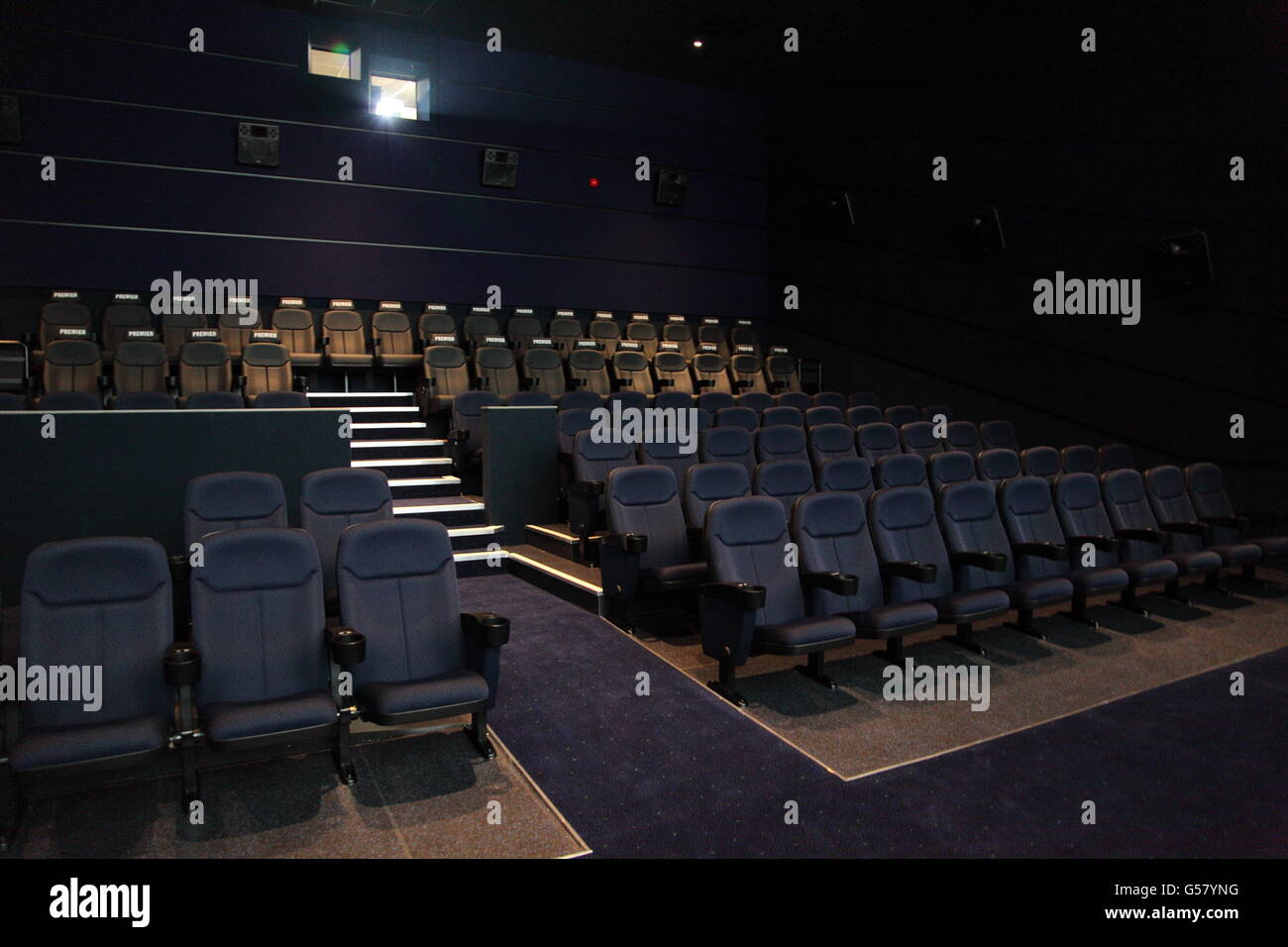 Seating inside an Odeon multiplex cinema at New Square, West Bromwich, - Stock Image
