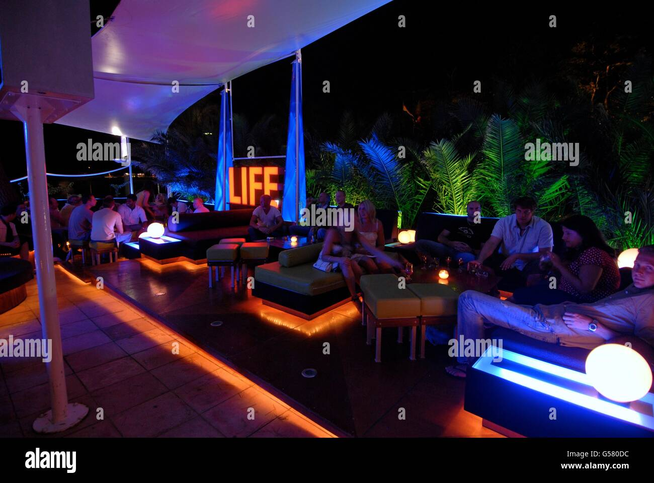 Bay Bar San Antonio Ibiza Stock Photo 106511480 Alamy