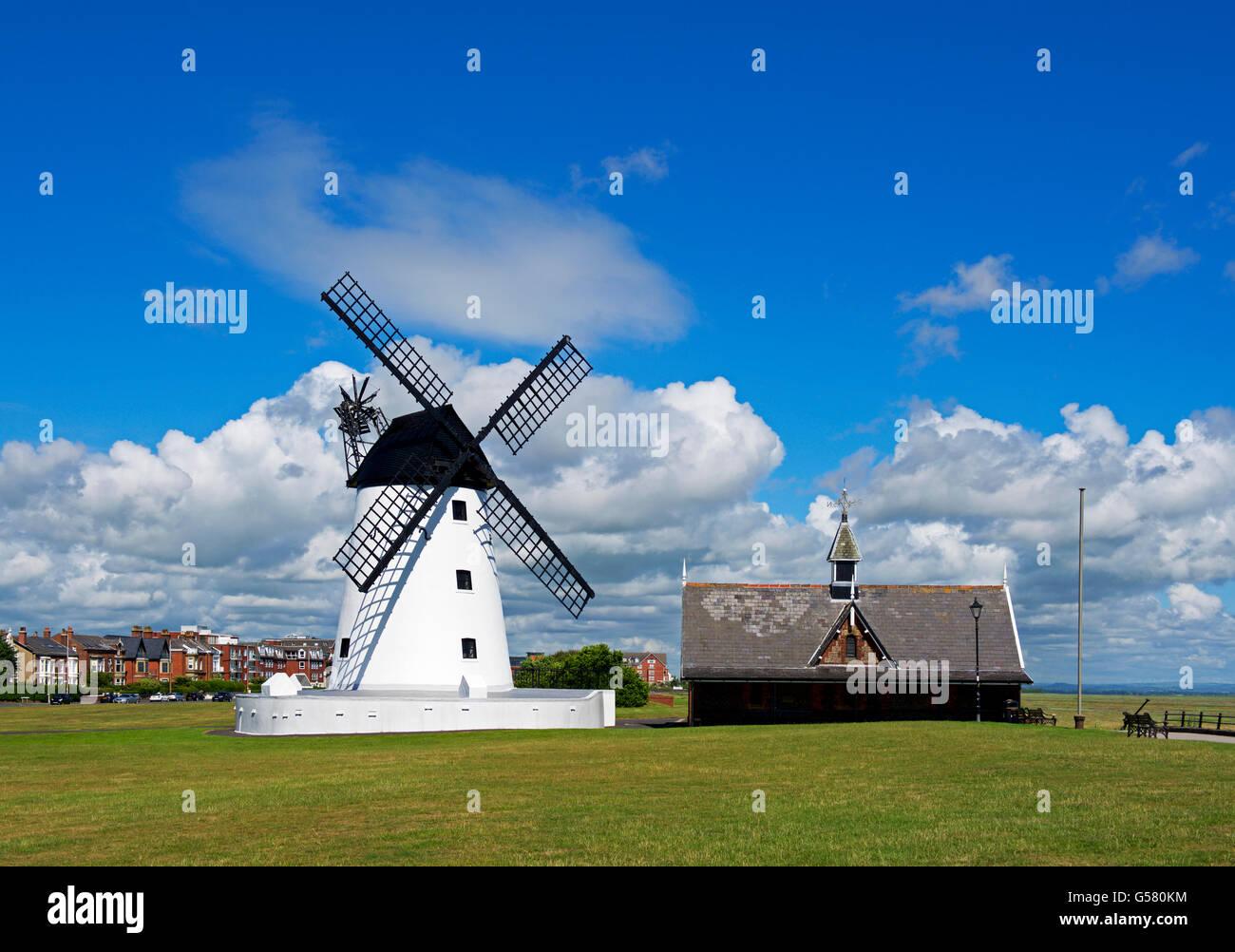 Lytham Windmill, Lytham St Annes, Lancashire, England UK - Stock Image