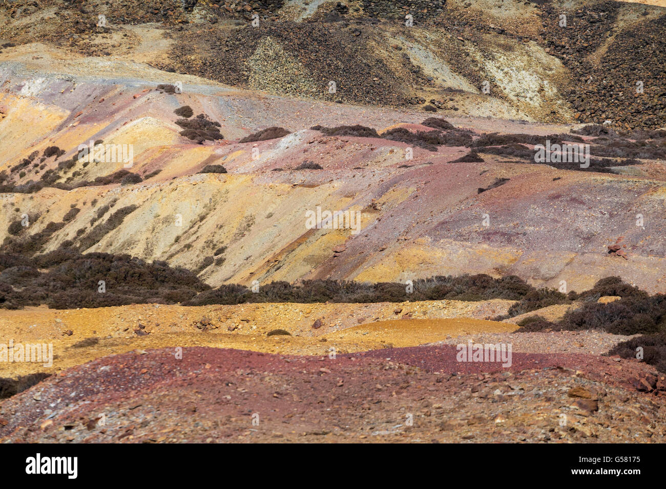 Parys Mountain Copper Mine, north-east Anglesey, Wales, UK - Stock Image