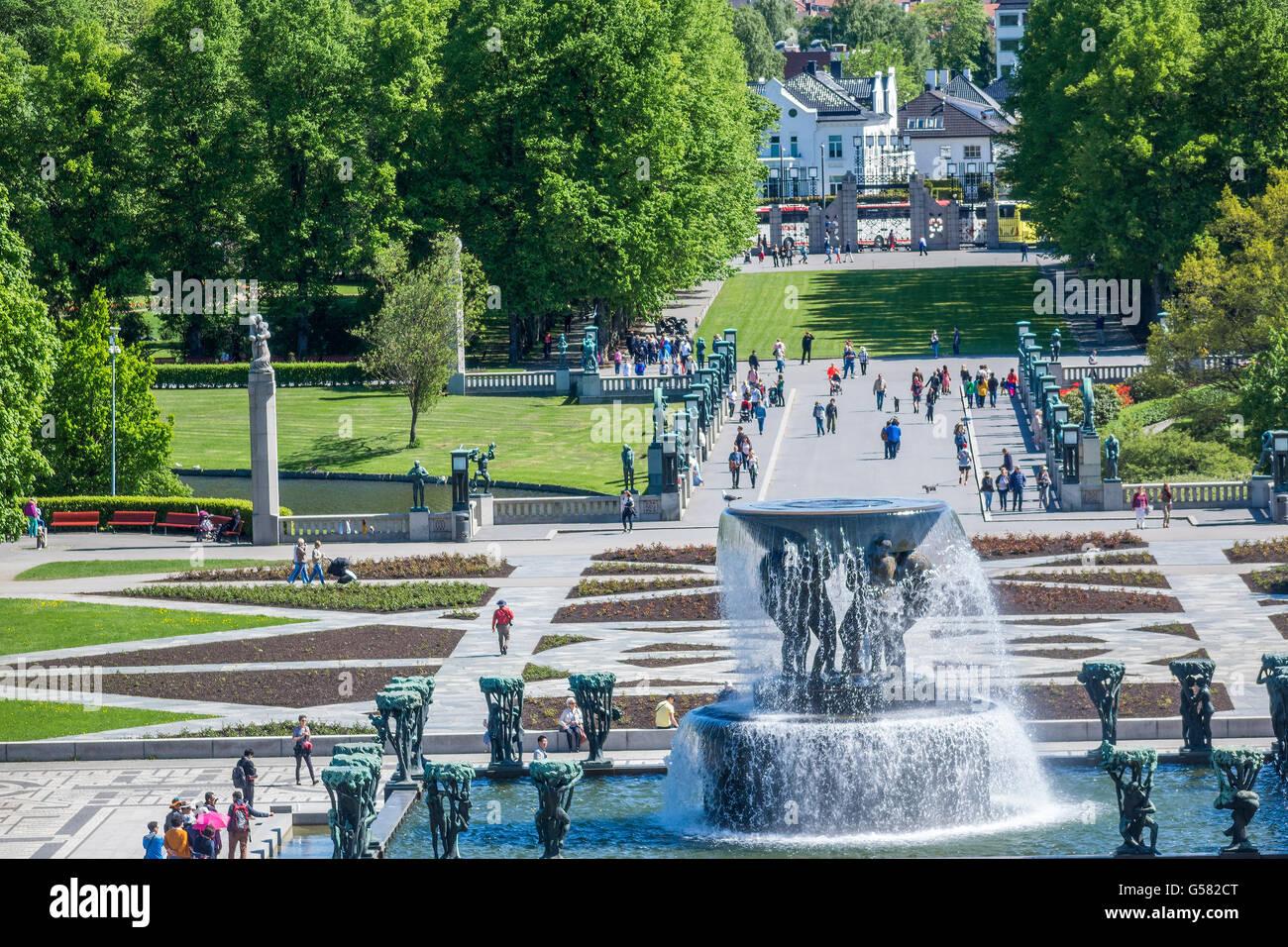 Vigeland Sculpture Park Oslo Stock Photos Amp Vigeland