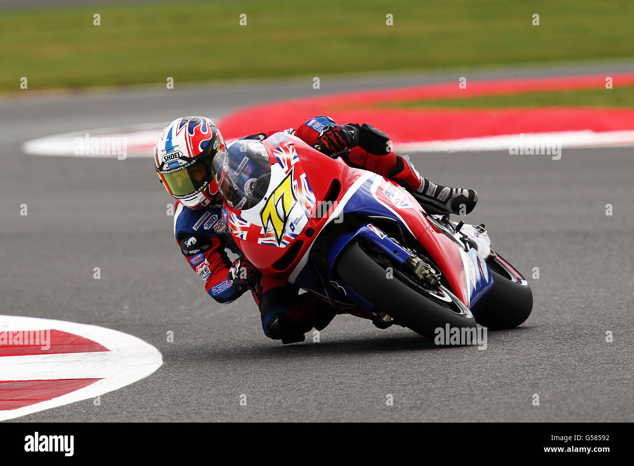 James Ellison during practice of the British Moto Grand Prix at Silverstone, Northamptonshire. Saturday June 16th Stock Photo