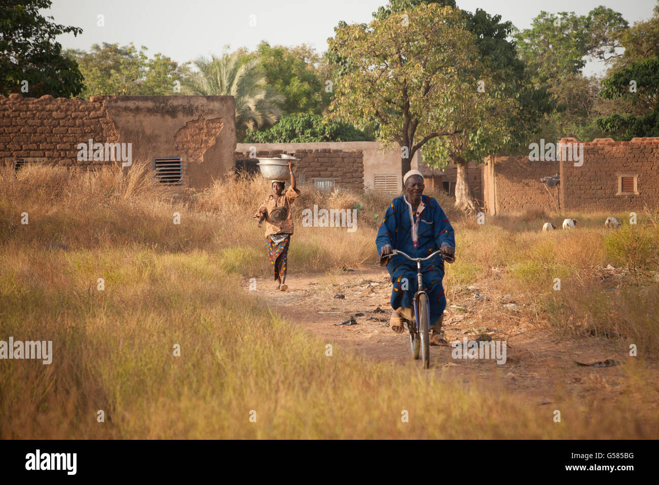 Bobo Dioulasso Department village scene, Burkina Faso. - Stock Image