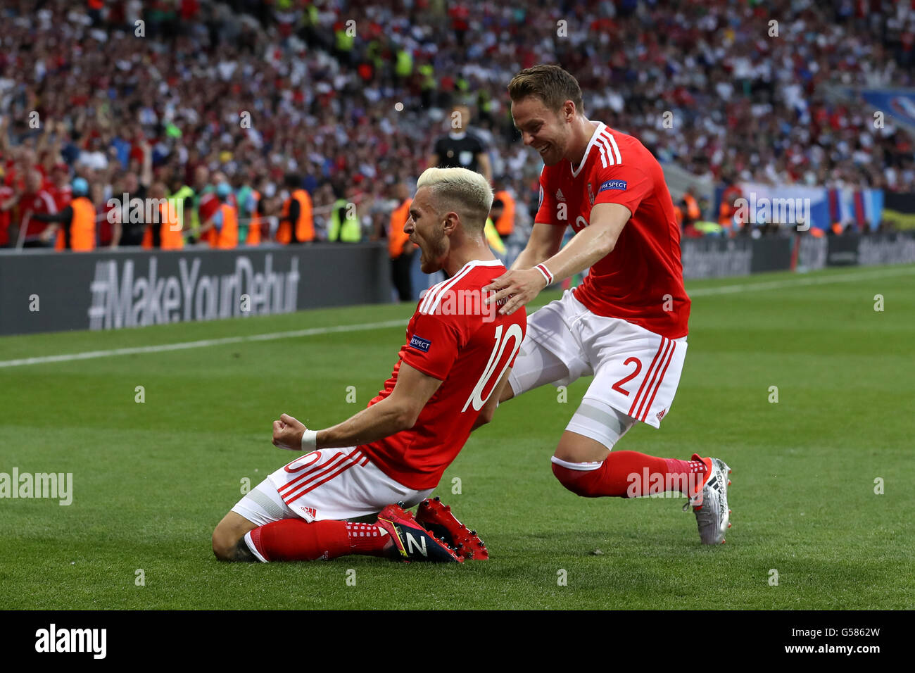 4e02ec5821a Wales  (l-r) Aaron Ramsey and Chris Gunter during the UEFA Euro 2016