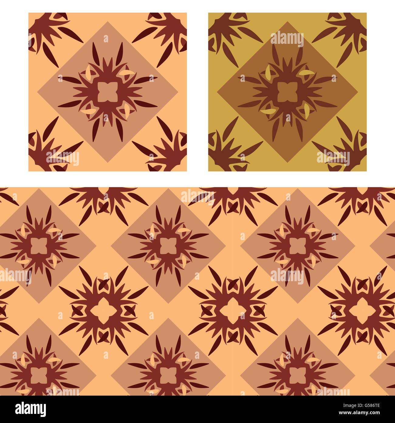 abstract redish plain seamless patterns vector illustration - Stock Image