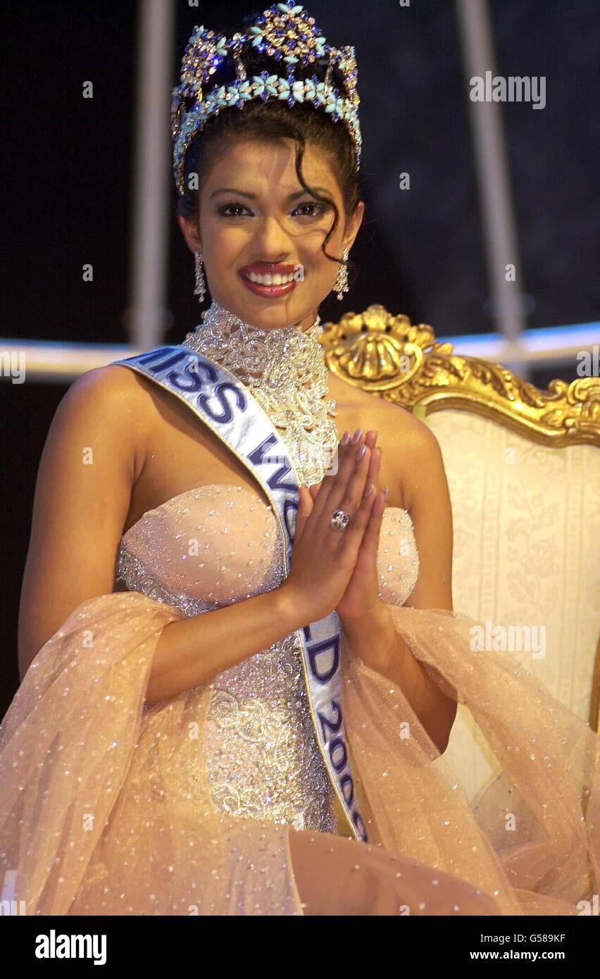Miss World Priyanka Chopra Stock Photo Alamy