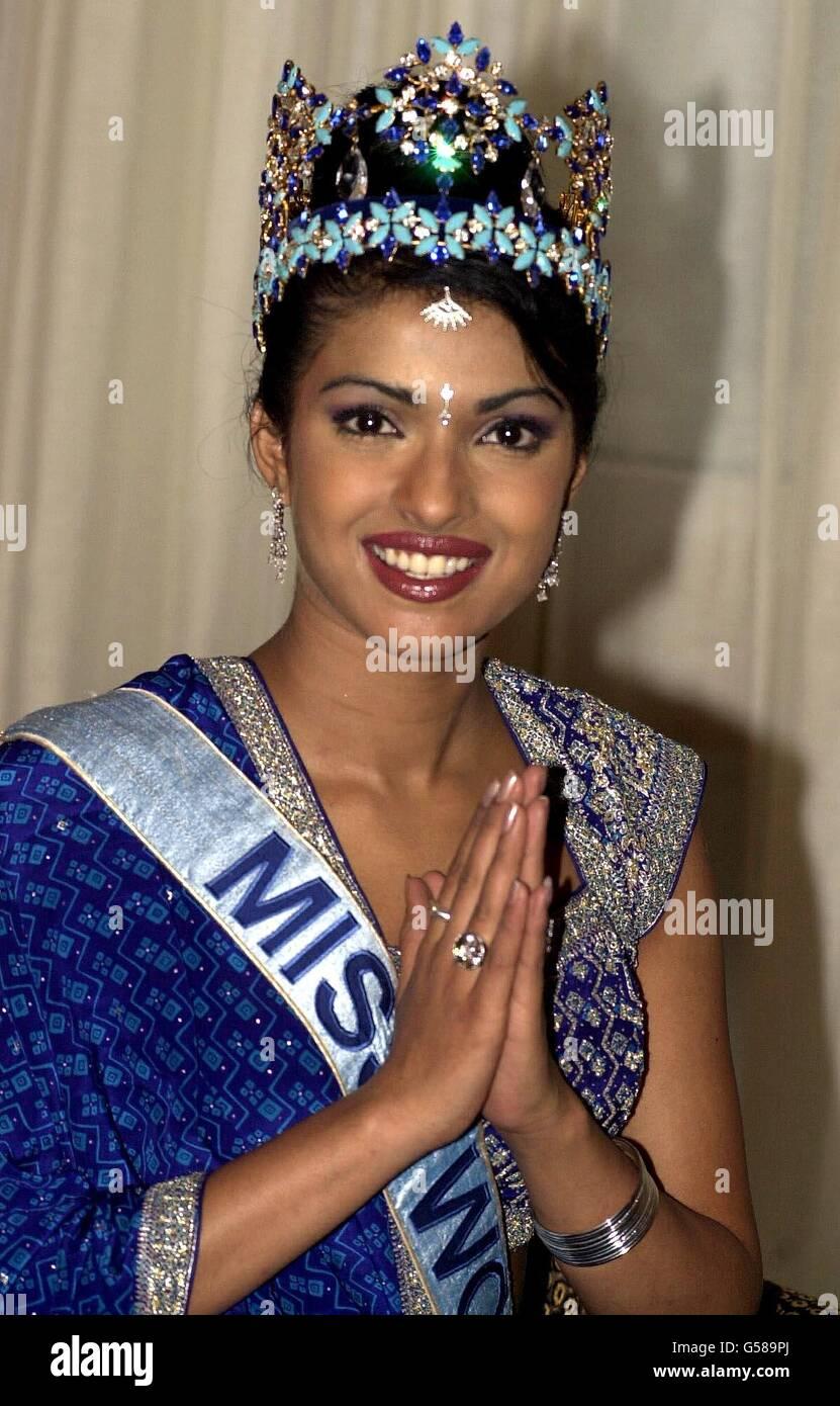Miss India Miss World 2000 Winner Stock Photo Alamy