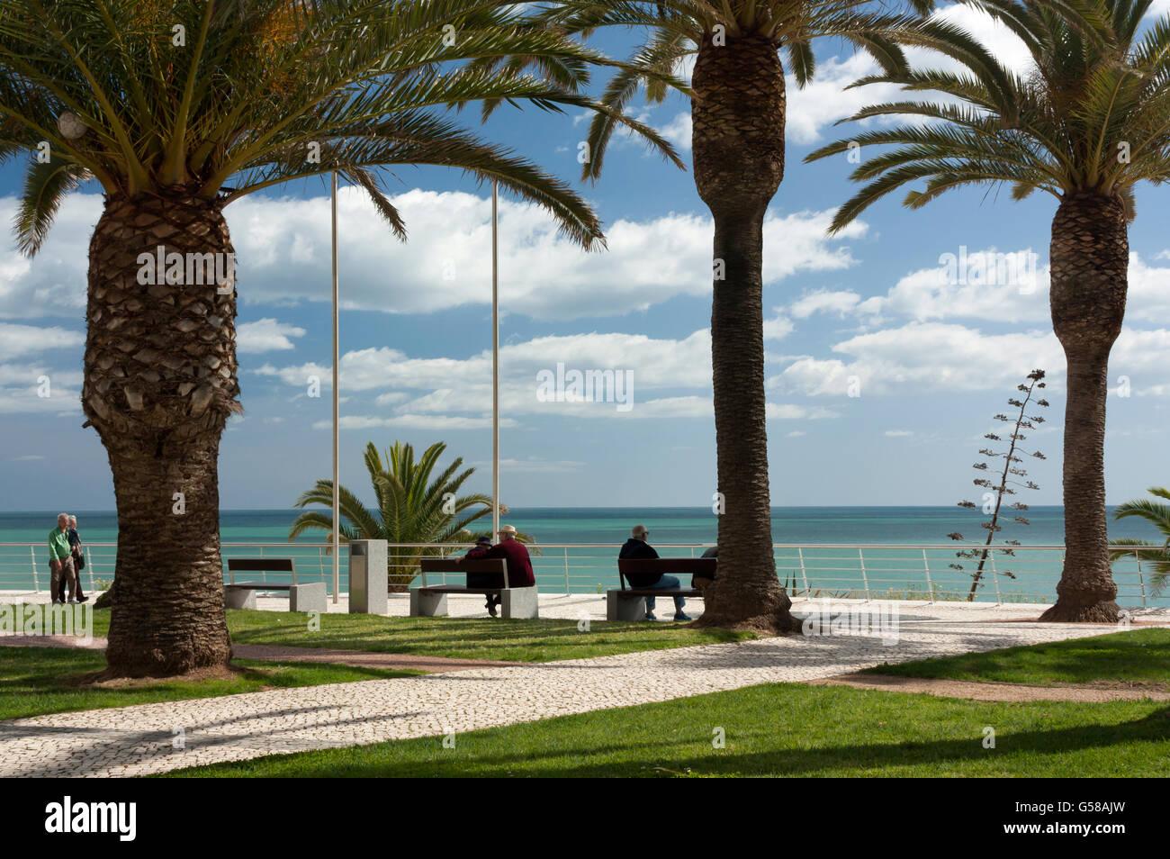 Ocean promenade Armacao de Pera - Stock Image
