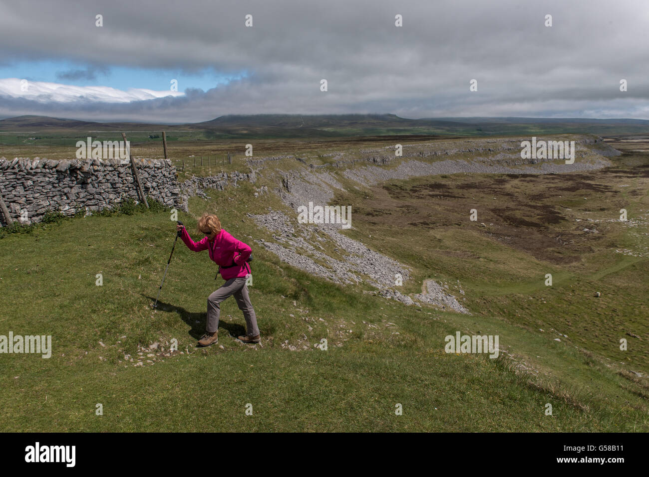 Thieves Moss in The Yorkshire Dales - Stock Image