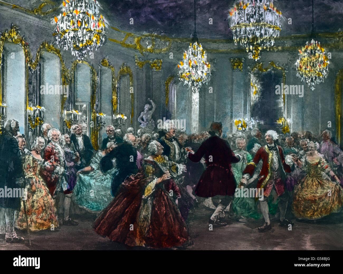 Hofball in Rheinsberg  Germany, Prussia, monarchy, king, royalty