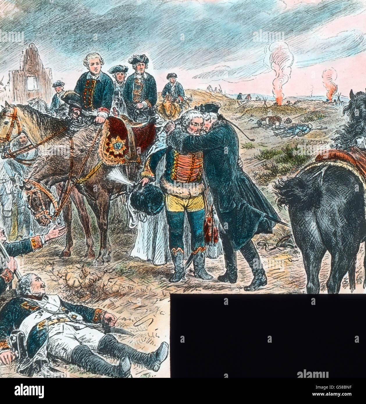 Friedrich der Große und Hans Joachim Zieten bei Torgau  Germany