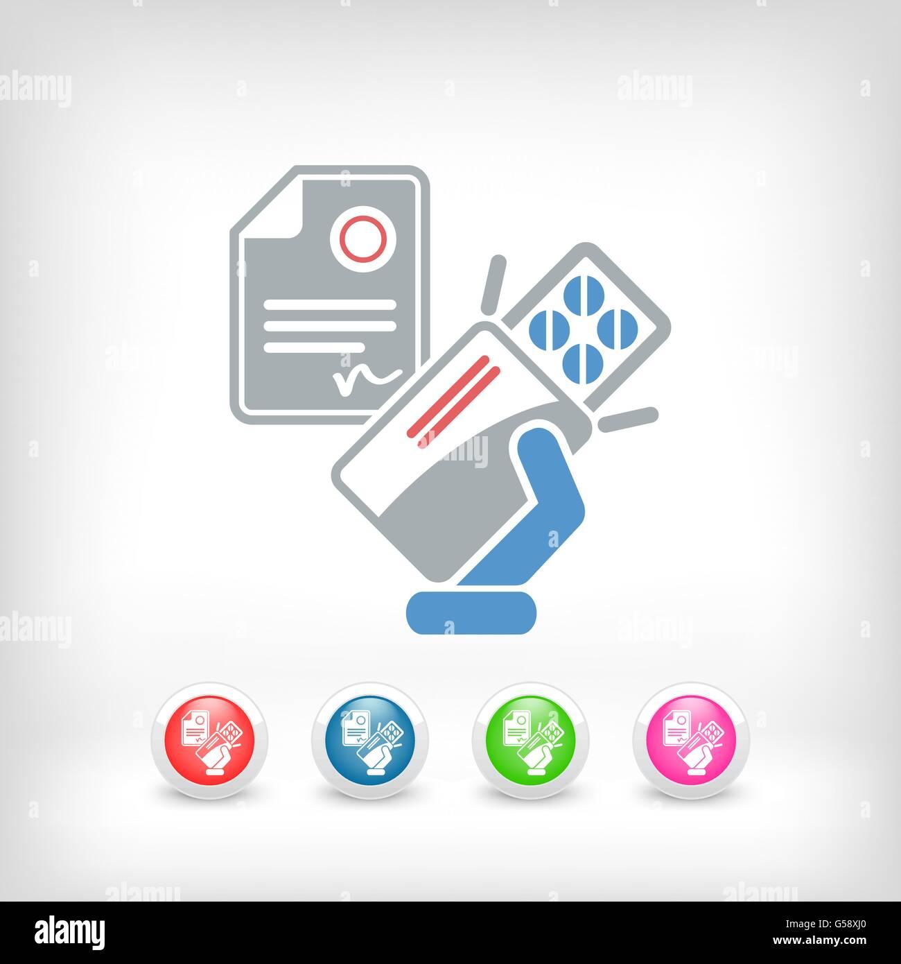 Medical prescription - Stock Vector