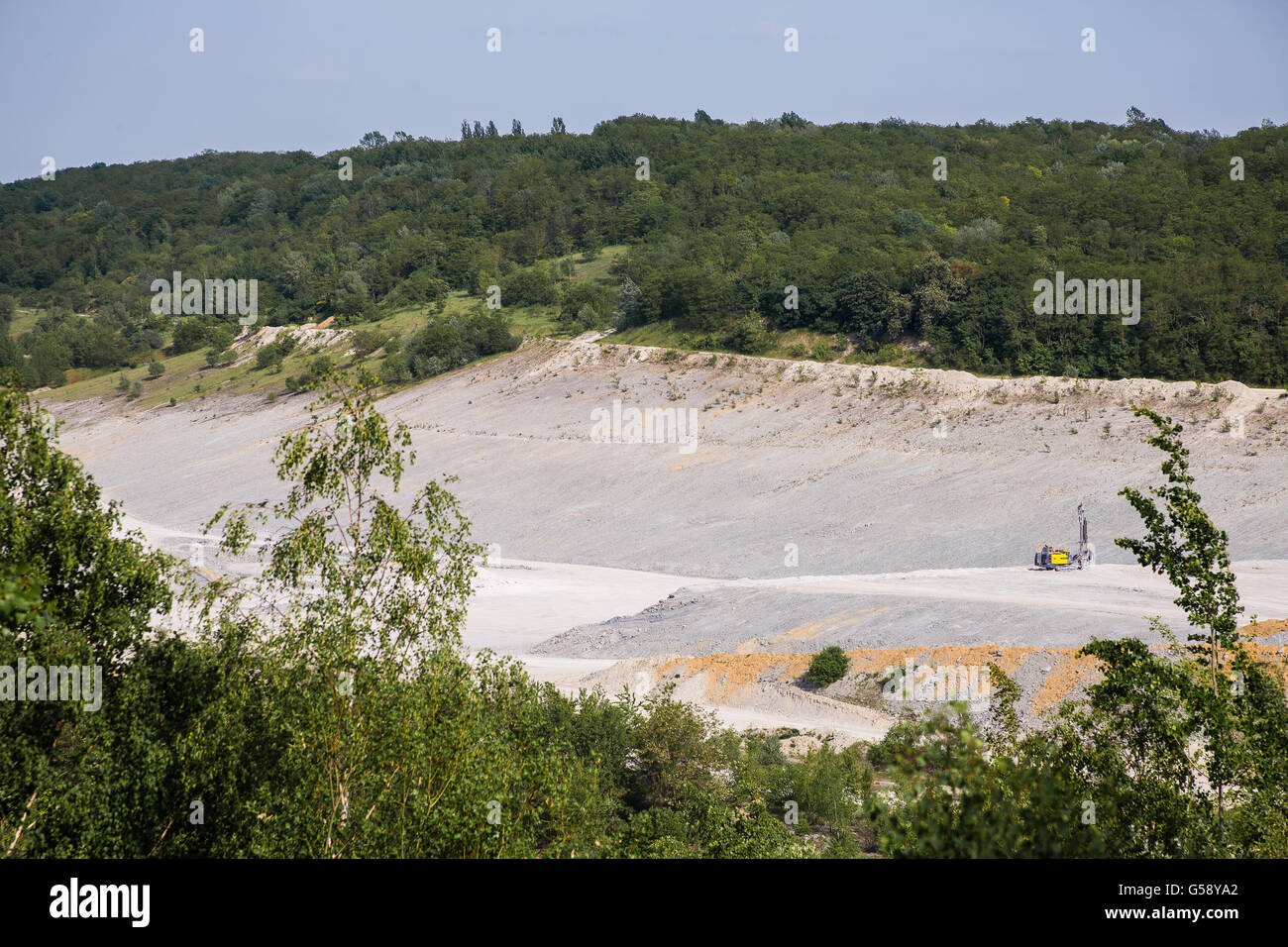 Bottom of surface mining in open mine - Stock Image