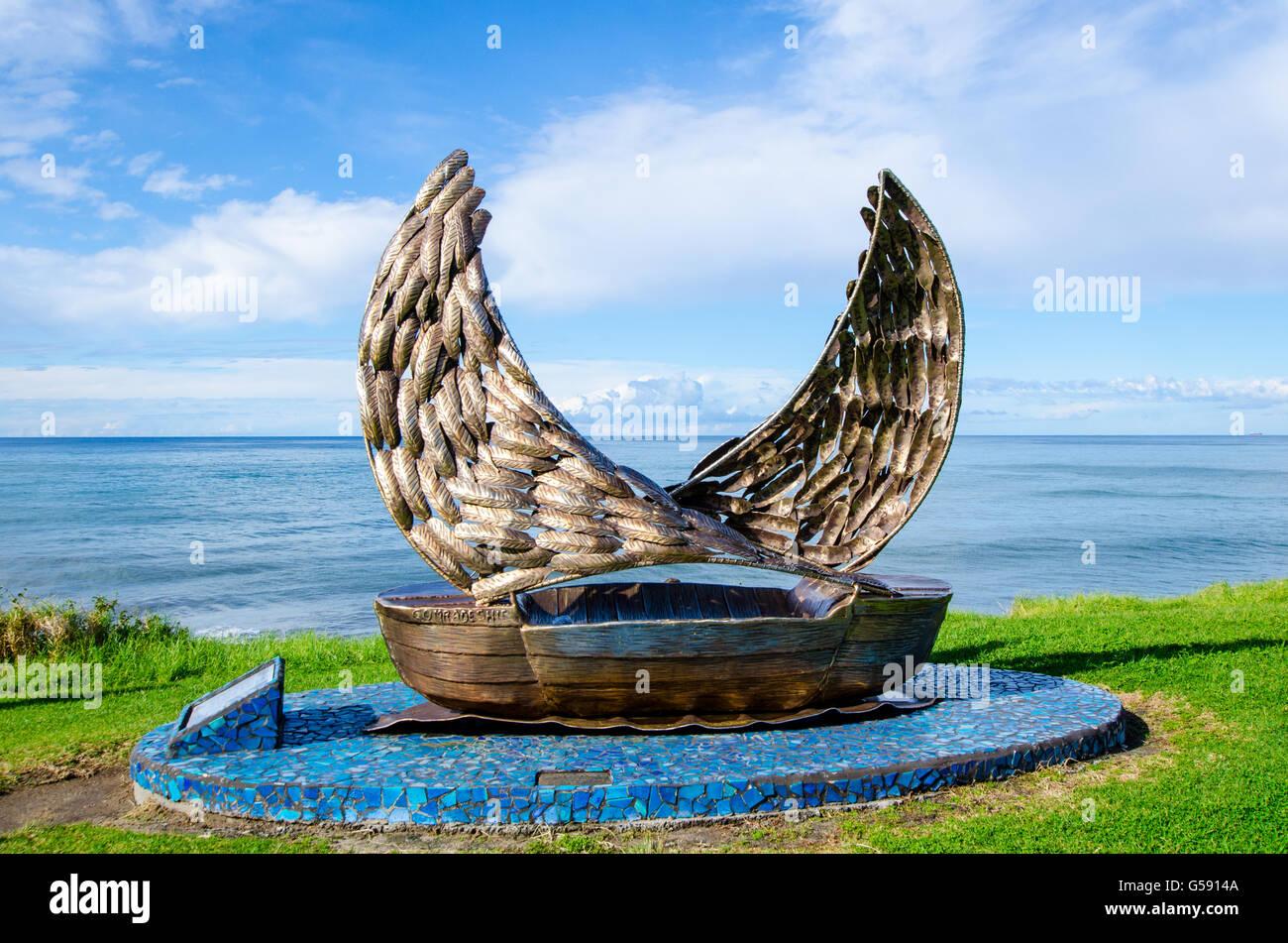 Comradeship sculpture at Wombarra NSW Australia - Stock Image