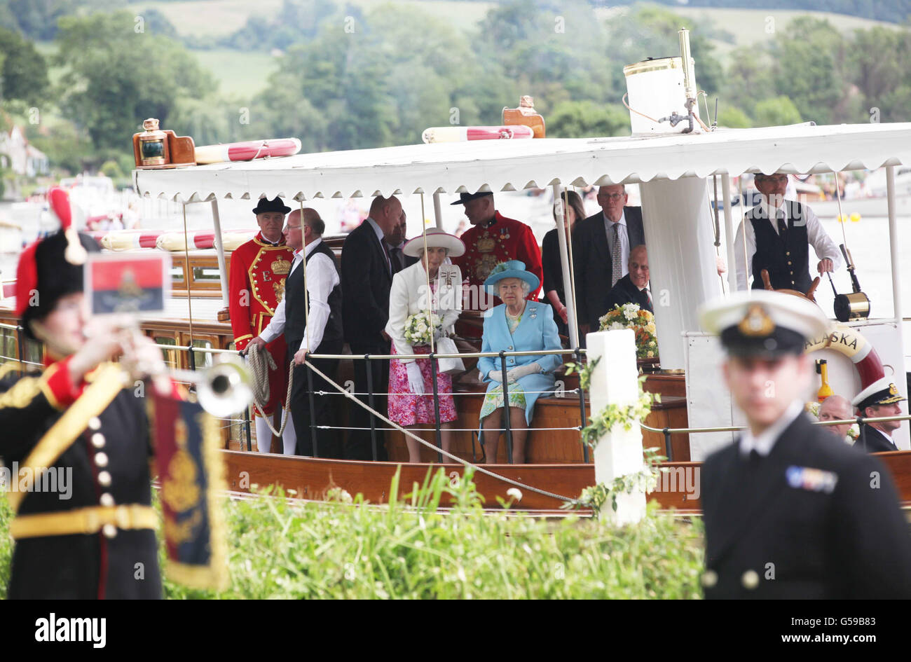 Royal visit to Henley - Stock Image