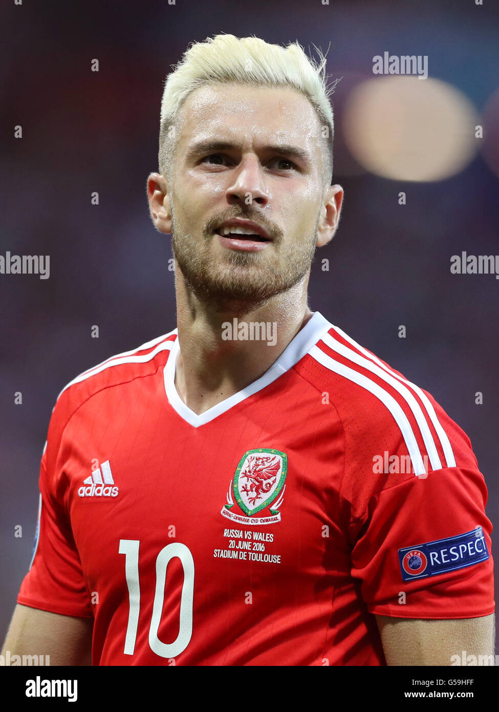 size 40 059f0 feb2e Wales' Aaron Ramsey during the UEFA Euro 2016, Group B match ...