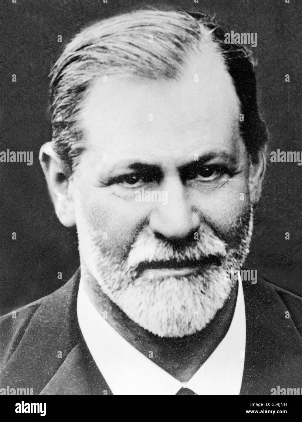 Sigmund Freud, 1909, Stock Photo