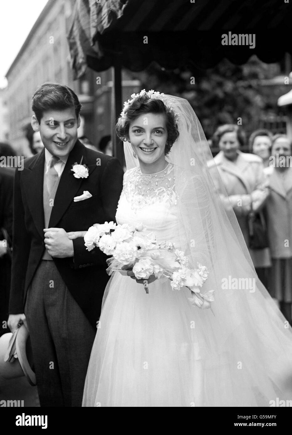 Social Events - Clement Freud and Jill Raymond wedding - London - Stock Image