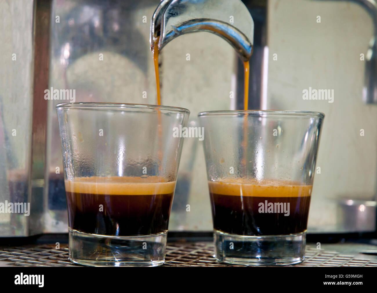 Espresso machine maker - Stock Image