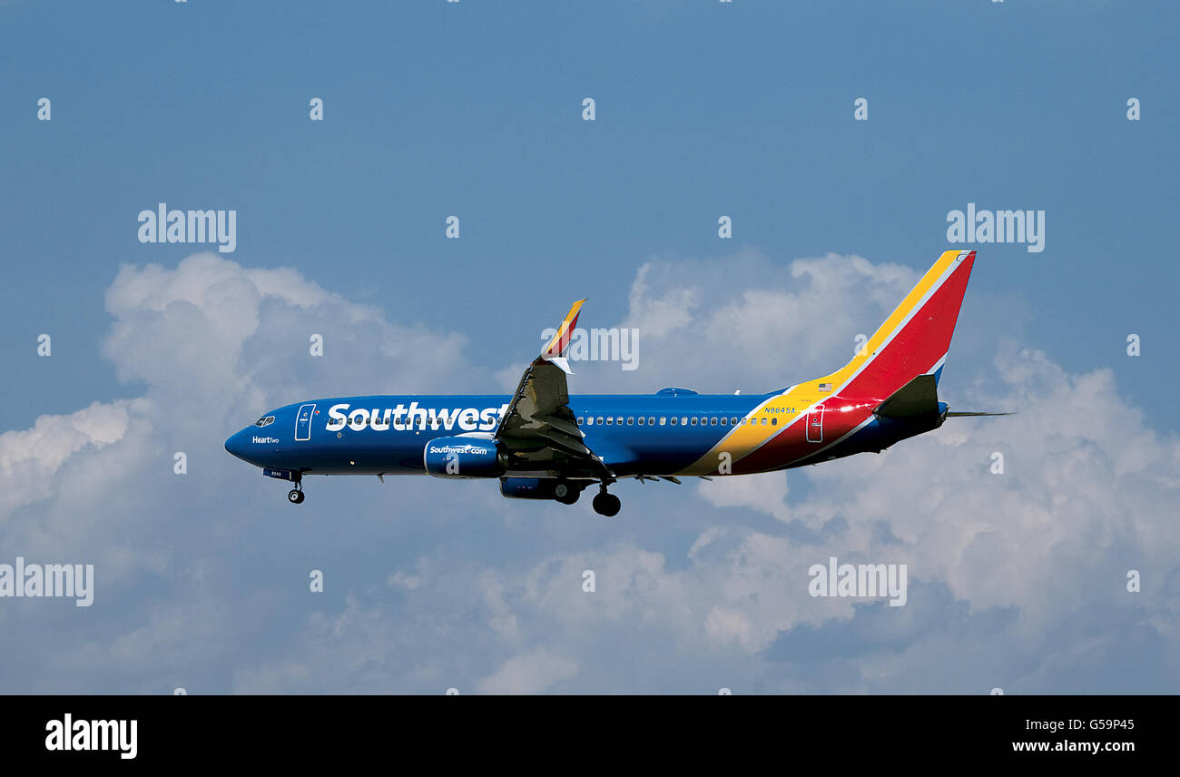 2cd9e1482fcd Southwest Airlines jet airplane landing at Baltimore BWI Airport - Stock  Image