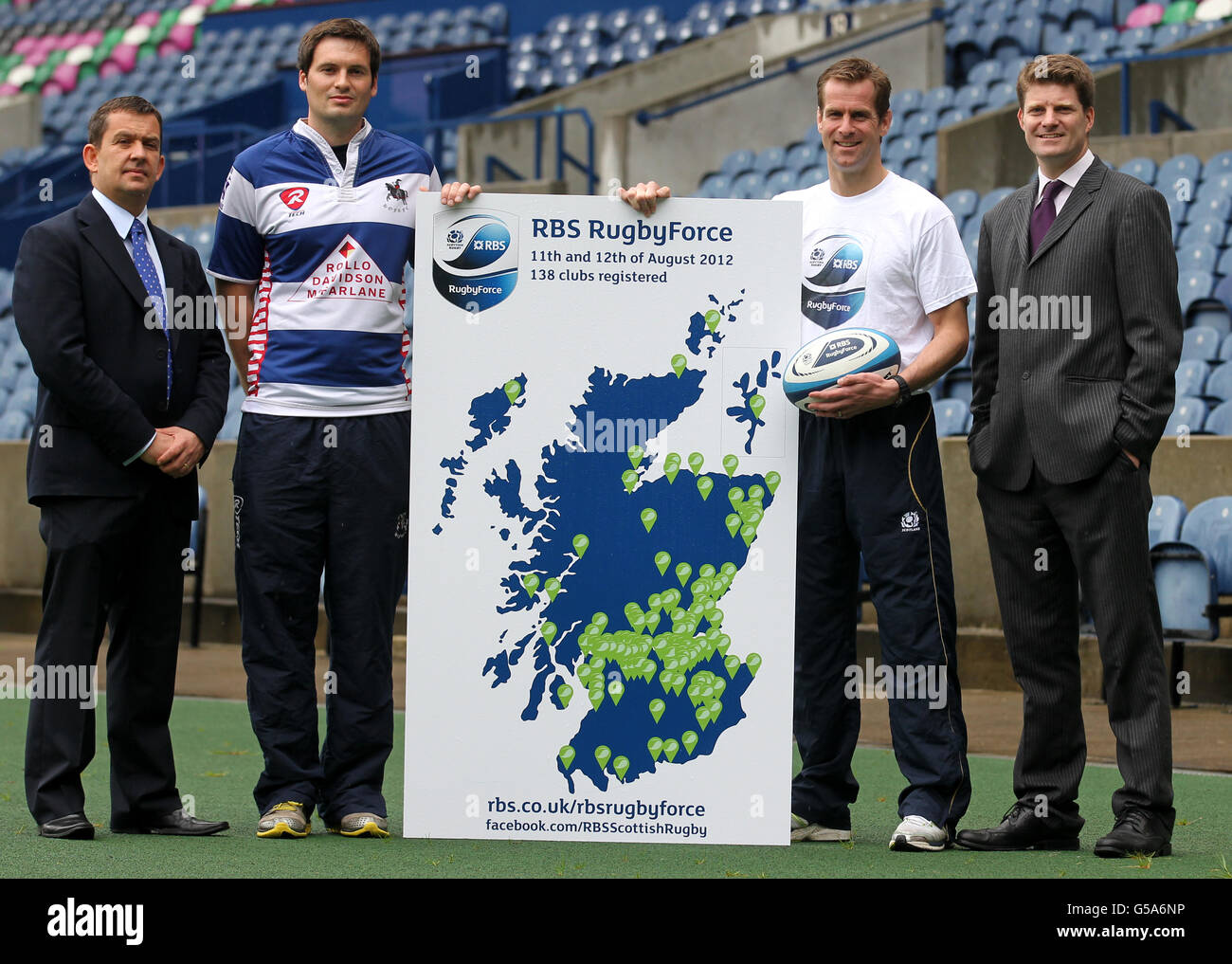 Rugby Union - Launch of RBS New RugbyForce Initiative - Murrayfield Stock Photo