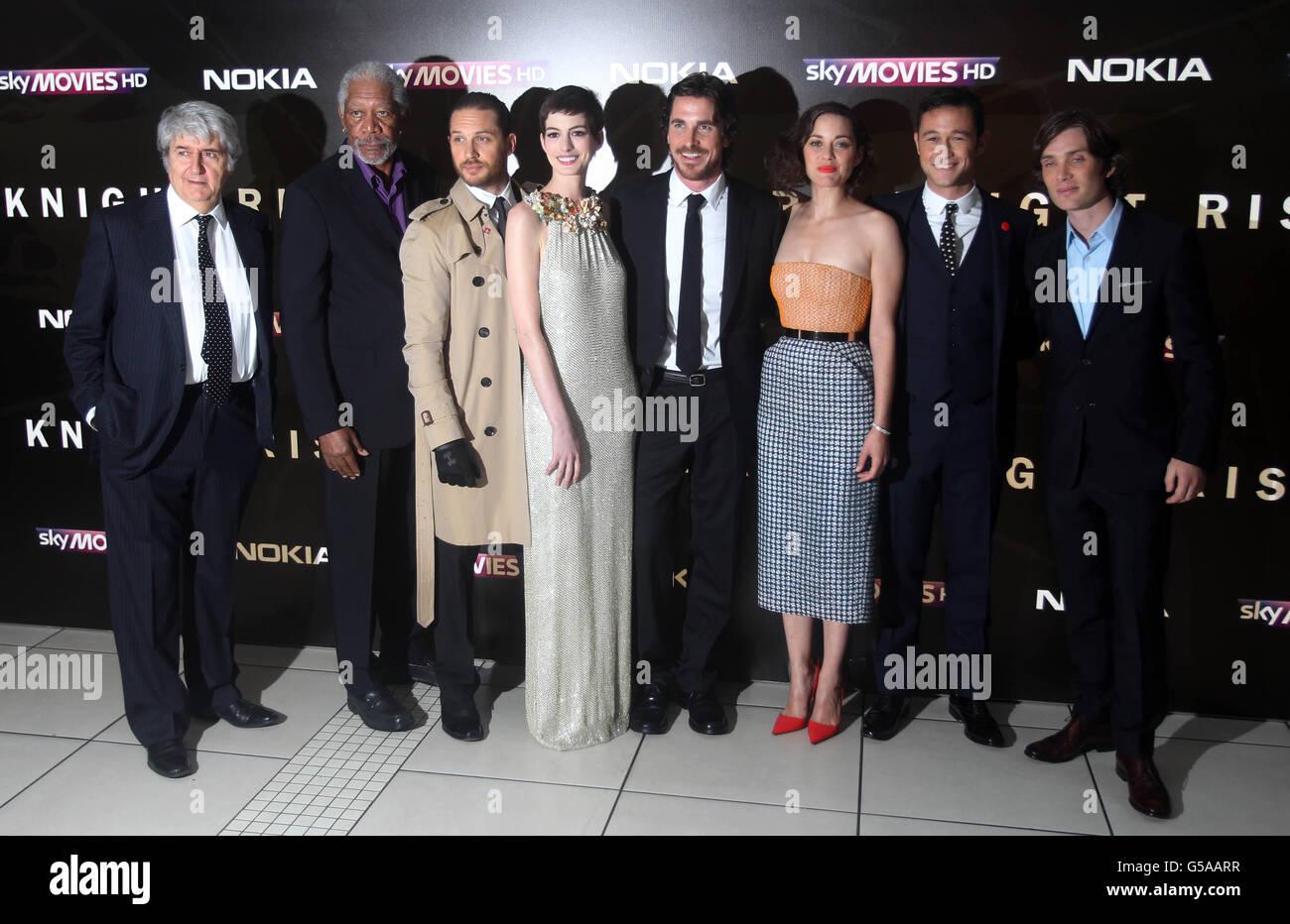 Batman The Dark Knight Rises Premiere London Stock Photo