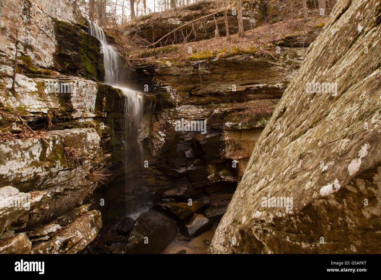 Burden Falls in the Shawnee National Forest - Stock Image