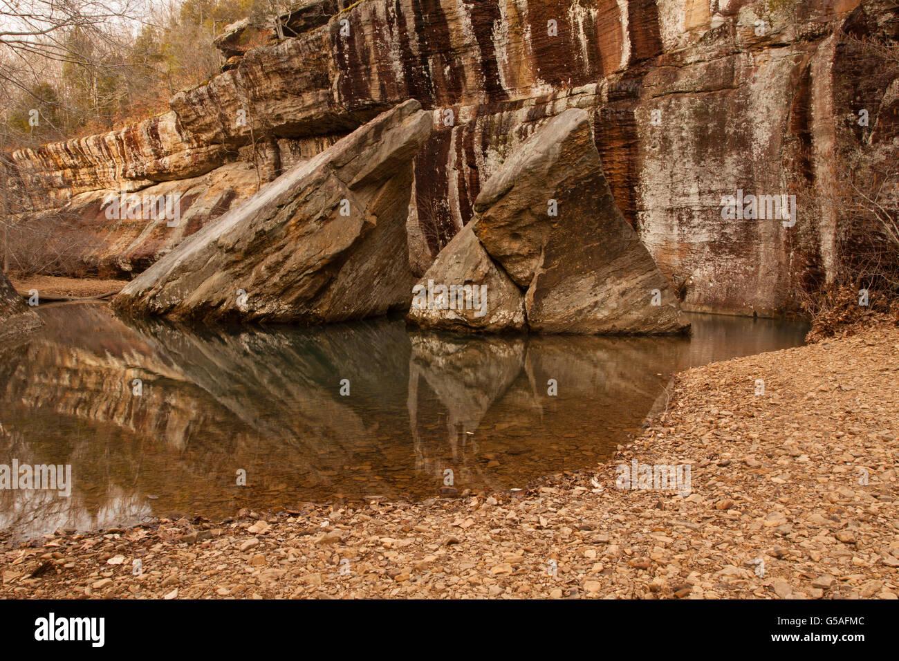 Devil's Backbone Formation at Shawnee National Forest - Stock Image