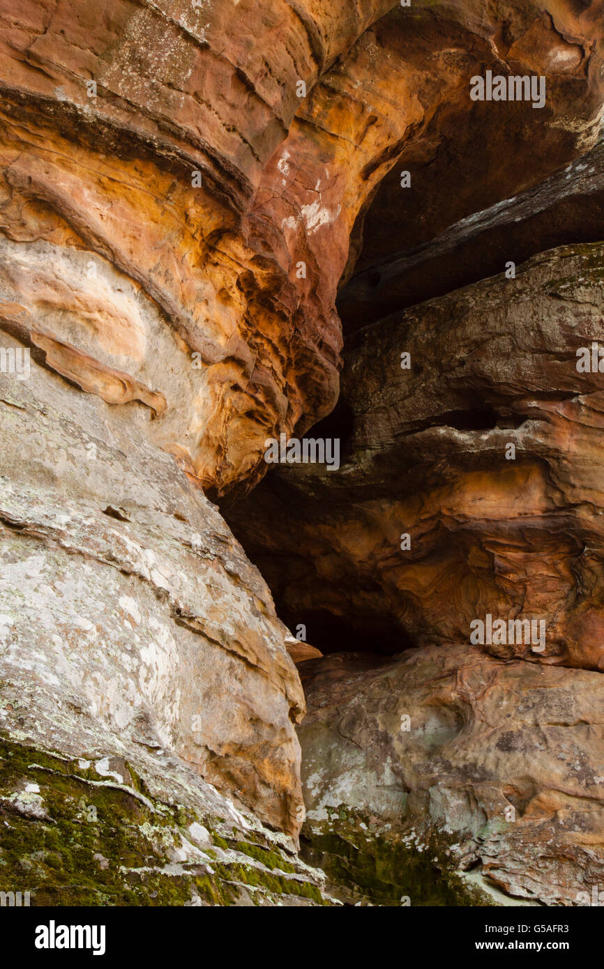 Cavern Rock Formation at Garden of the Gods, Shawnee National Forest - Stock Image