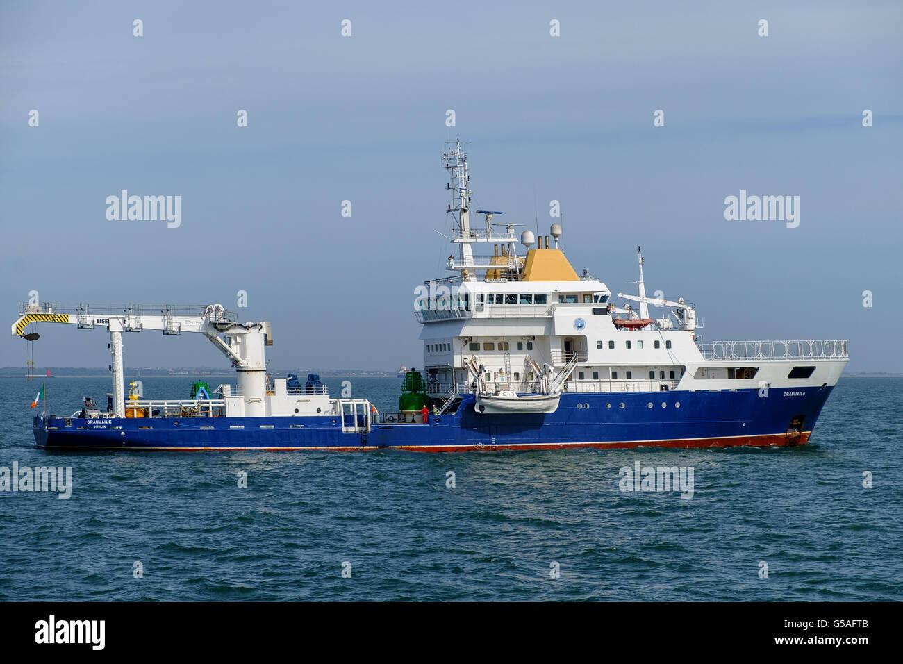 granuaile irish lights ship - Stock Image
