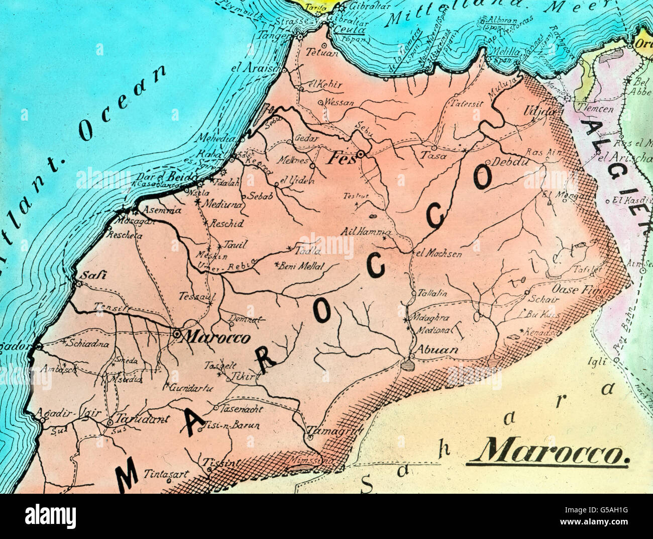 geography of the north of morocco
