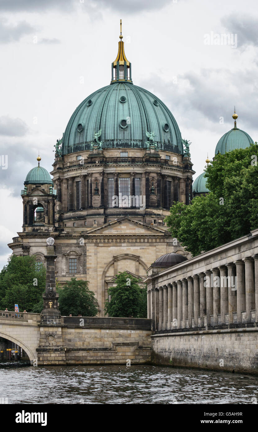 Berlin, Germany. The cathedral (Berliner Dom), built in 1893 on Museum Island. Badly damaged in the war and restored - Stock Image