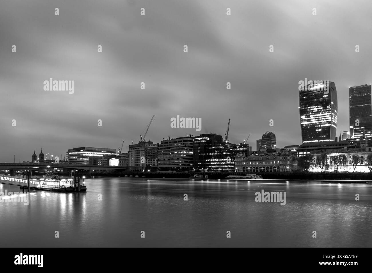 View of the City of London and the River Thames - Stock Image