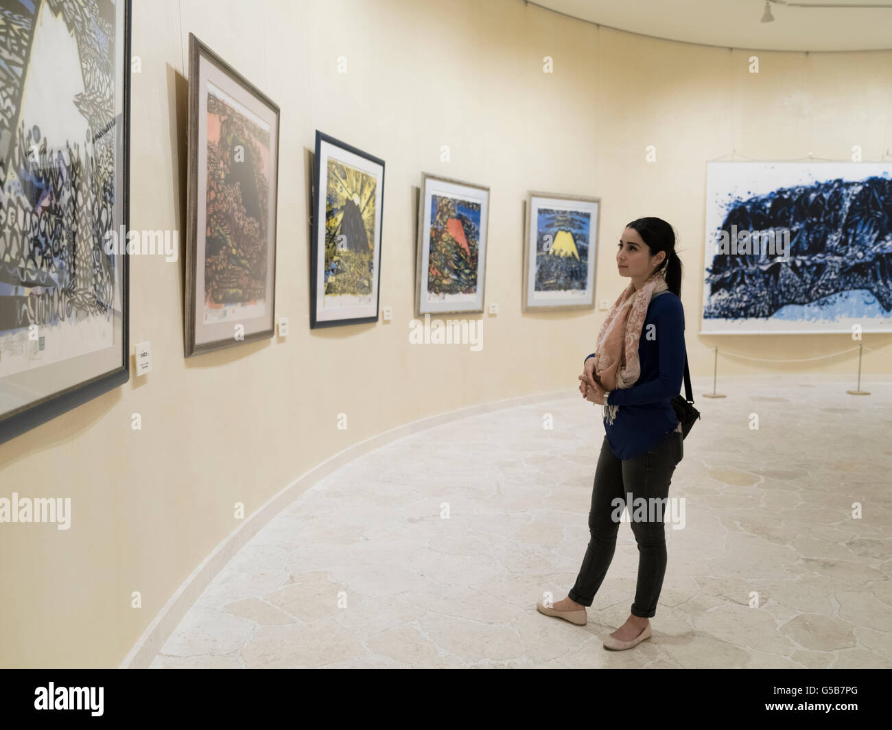 Bokunen Art Museum in Depot Island shopping and dining area, Mihama American Village, Chatan, Okinawa, Japan - Stock Image