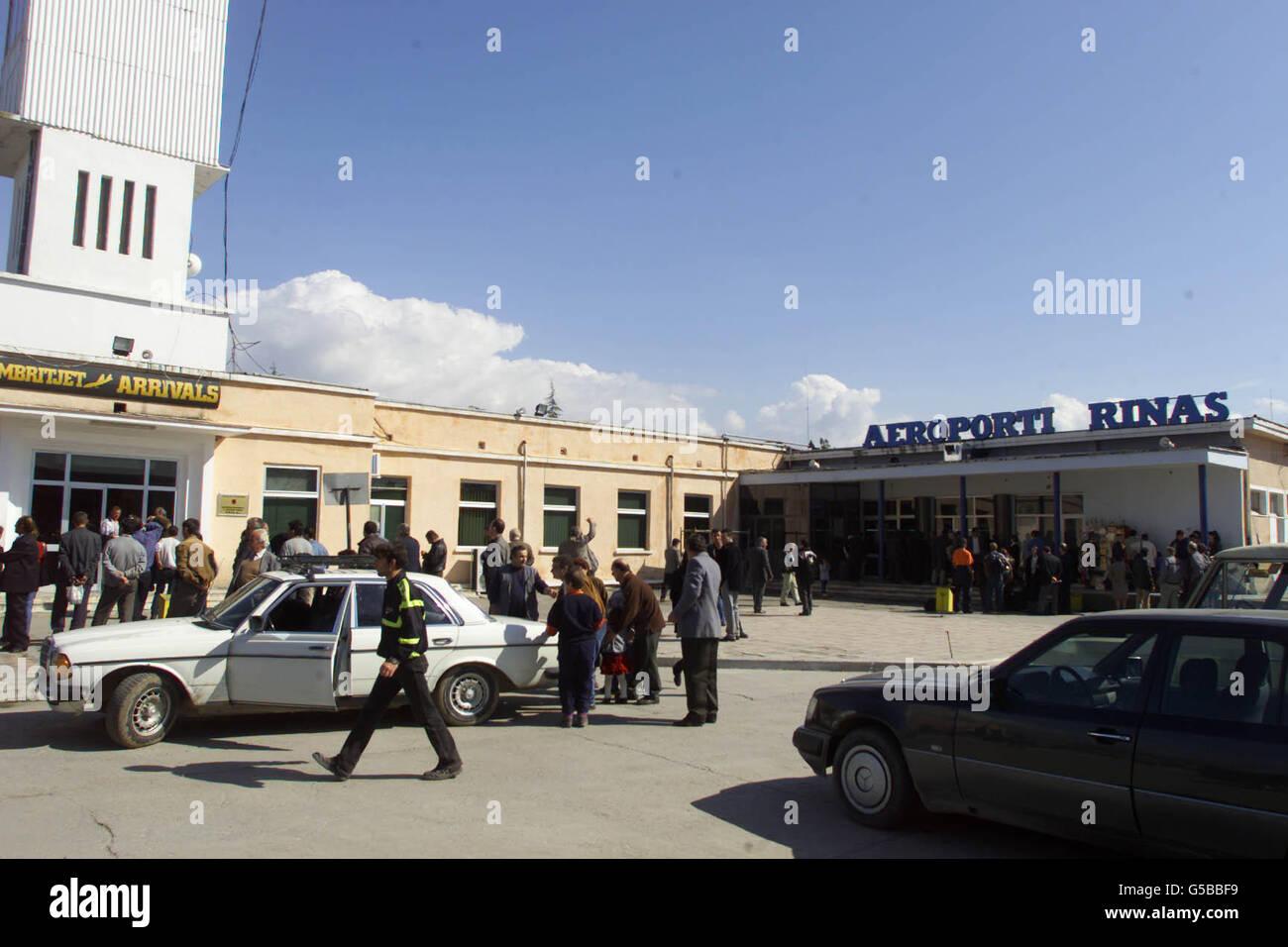 Albanian Airport - Stock Image
