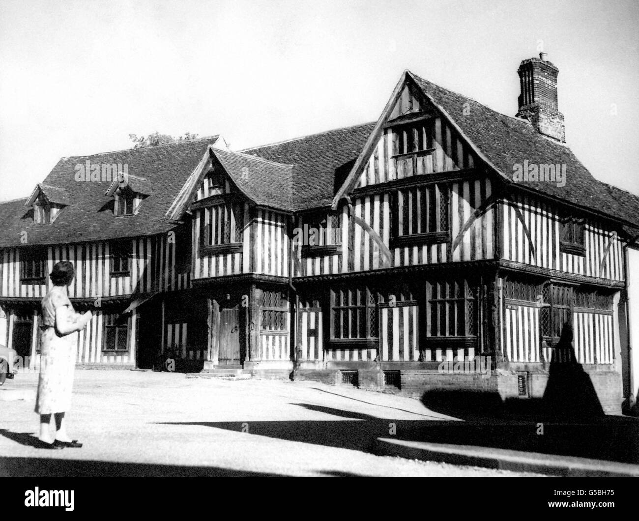 Buildings and Landmarks - Lavenham Guildhall - Suffolk - Stock Image