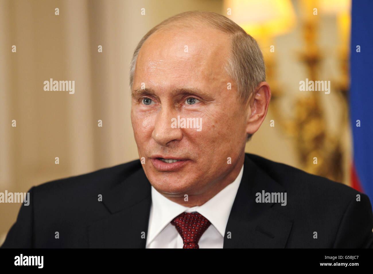 Putin visits UK - Stock Image