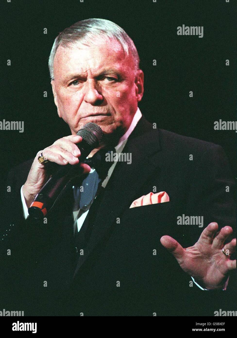 Frank Sinatra Royal Albert Hall 92 Stock Photo